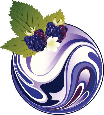 奶油,黑刺莓,早餐,牛奶,奶昔,浆果果汁,酸奶,熟的,商品,矢量