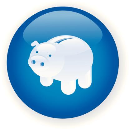 储蓄,公司企业,动物,小猪扑满,家猪,金融,矢量,计算机图标,蓝色,绘画插图