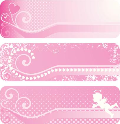 情人节,高雅,华贵,粉色,紫色,式样,古典式,剪影,装饰