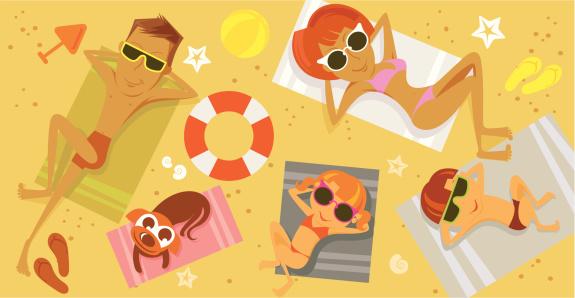 海滩,兄弟姐妹,休闲追求,儿童,人,贝壳,泳衣,日光浴,生活方式,度假