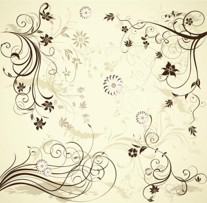 式样,四元素,装饰物,点状,卷着的,植物茎,设计元素,美术工艺,弯曲