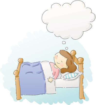 可爱的,人,幸福,床,二件式睡衣,生活方式,表现积极,卧室,渴望,思考