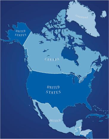 北美,蓝色,自然,美洲,格陵兰,墨西哥,美国,加拿大,北