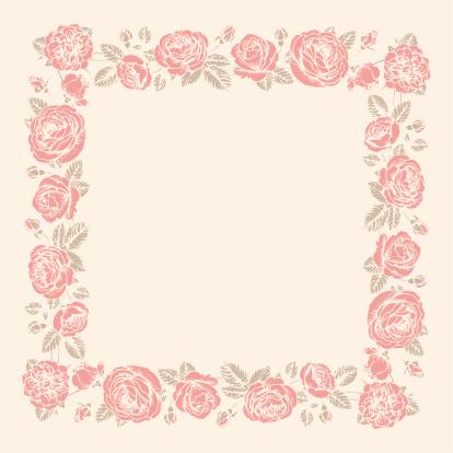 玫瑰,边框,漏字板,浪漫,灰色,粉色,背景,米色,绘画插图,无人