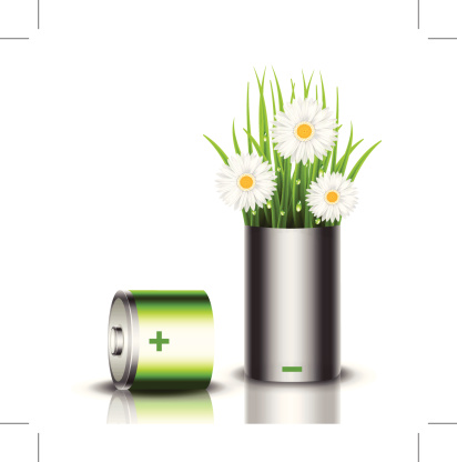 替代能源,概念,阴影,环境保护,草,电池,背景分离,可再生能源,灵感,仅一朵花