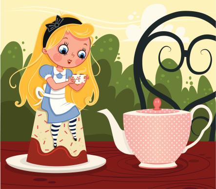 爱丽丝梦游仙境,茶话会,饮食,椅子,桌子,生活方式,杯,茶,坐,喝