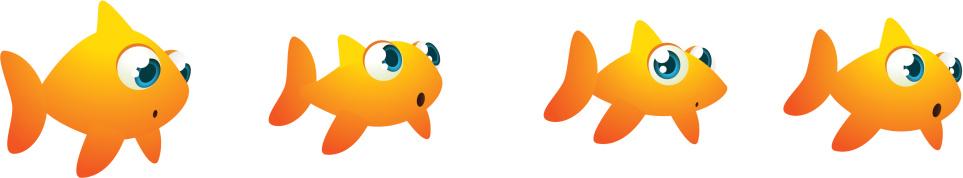 成一排,金鱼,宠物,团队,动物主题,概念和主题,看,动物,动物斑纹,矢量