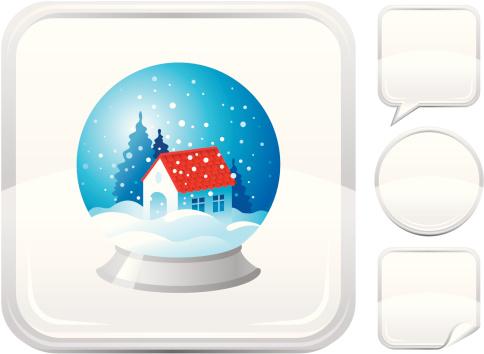 银色,计算机图标,按钮,雪球,白色背景,节日,雪,图标集,住宅内部,背景分离