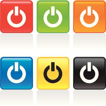 计算机图标,能源,打开或关掉,橙色,黑色,图标集,成组图片,技术,黄色,设计元素