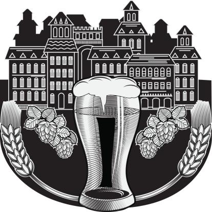 啤酒,烈啤酒,含酒精饮料,啤酒泵,裸麦,城镇,品脱酒杯,欧洲,标签,设计