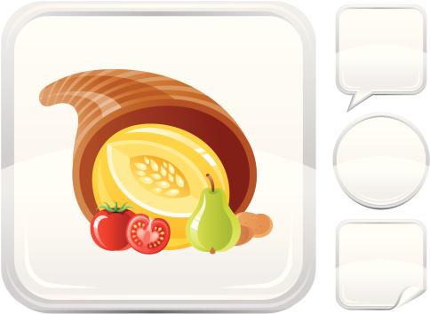 丰收的羊角,银色,计算机图标,按键区,白色背景,图标集,背景分离,标签,矢量,马铃薯