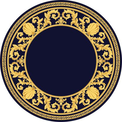 花纹,圆形,维多利亚女王时代风格,仅一朵花,矢量,叶子,古典式,复古风格,绘画插图,花