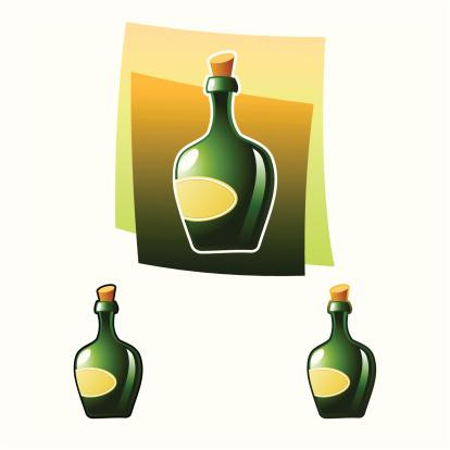 酒瓶,饮食,饮料,瓶子,含酒精饮料,葡萄酒,标签,绿色,软木塞,背景分离