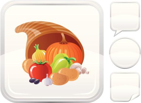 丰收的羊角,银色,计算机图标,按键区,白色背景,食用菌,图标集,季节,背景分离,橄榄