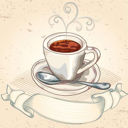 咖啡杯,卡布奇诺咖啡,标签,特写,咖啡,矢量,热,咖啡壶,背景,闻