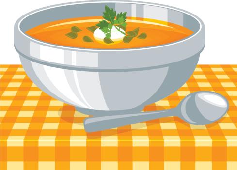 南瓜汤,南瓜子,饮食,食品,汤匙,碗,奶油,汤,橙色,种子