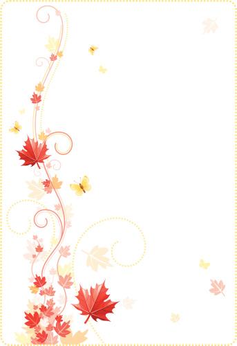 叶子,秋天,边框,红花槭,旋花植物,白色背景,节日,季节,黄色,动物斑纹