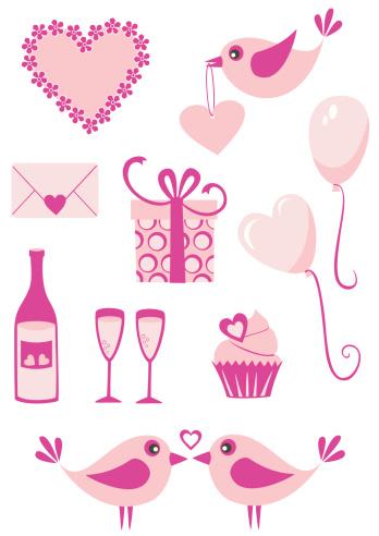 粉色,情人节,简单,饮料,食品,浪漫,气球,礼物,布置,爱