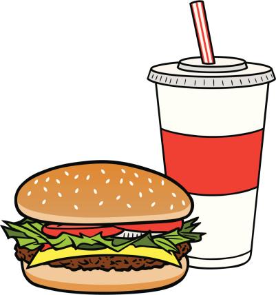 饮料,牛肉汉堡,苏打,小圆面包,午休时间,牛奶,杯,食品,面包,午餐