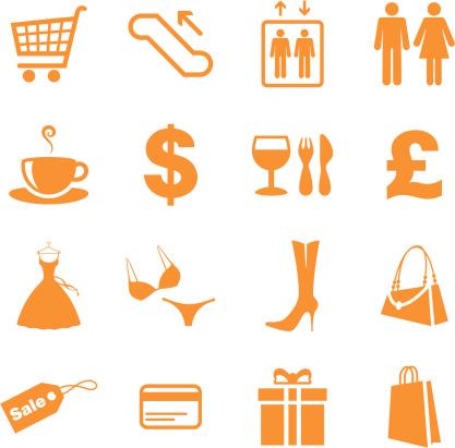 符号,零钱包,电梯,图标集,住宅房间,购物车,胸罩,礼物,标签,零售