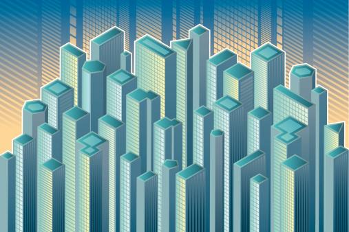 市区,建筑结构,金融区,城镇,户外,高处,矢量,屋顶,背景,建筑业