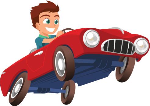 跑车,小的,幼儿,儿童,人,玩卡丁车,陆用车,户外,驾车,驾驶