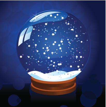 星形,雪花球,蓝色背景,空的,装饰物,水晶球,节日,雪,季节,庆祝