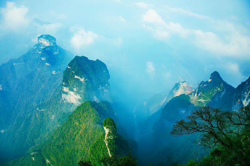 张家界,中国,山,男人,亚洲,自然,国内著名景点,风景,图像,无人