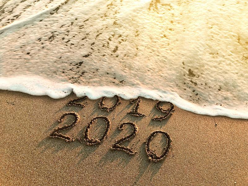 2020,新年前夕,土耳其,热带气候,海岸线,波浪,背景,消息,户外,节日