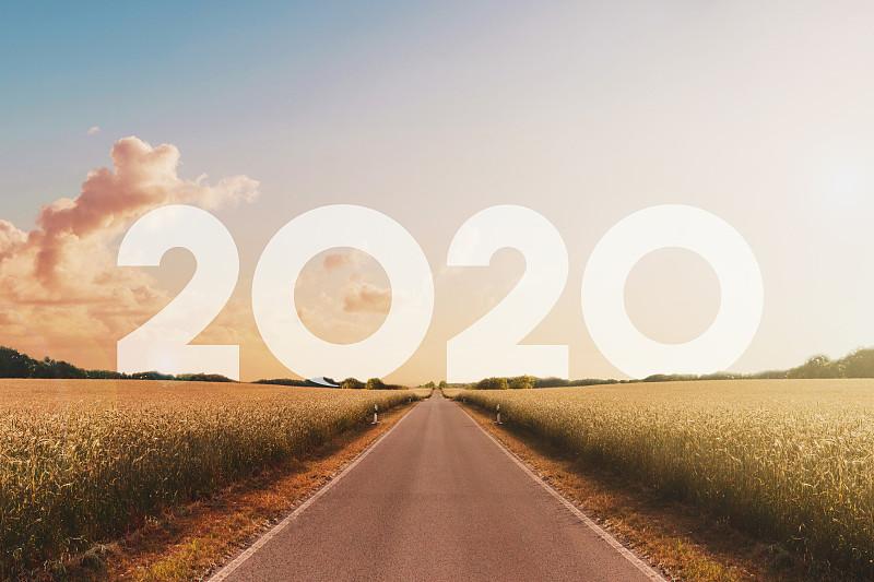 直的,无人,路,地形,农业,商务,旅途,2020,沥青,新年前夕