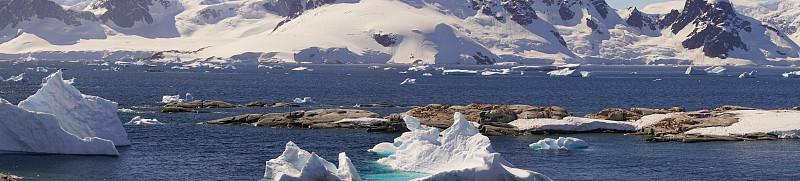 南极洲,天堂海湾,南极,寒冷,清新,雪,自然美,海岸线,岩石,户外