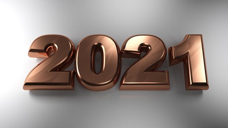 三维图形,绘画插图,铜,材料,2021,事件,贺卡,新年前夕,技术,电力线