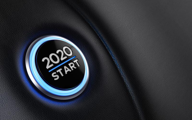 2020,汽车,新年前夕,仪表板,概念,开始按钮,商务,部分,汽车内部,交通工具内部