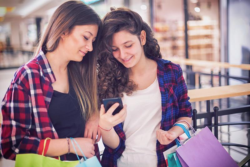 少女,购物中心,威斯敏斯特购物中心,自然美,青少年,儿童,顾客,人,女孩,两个人
