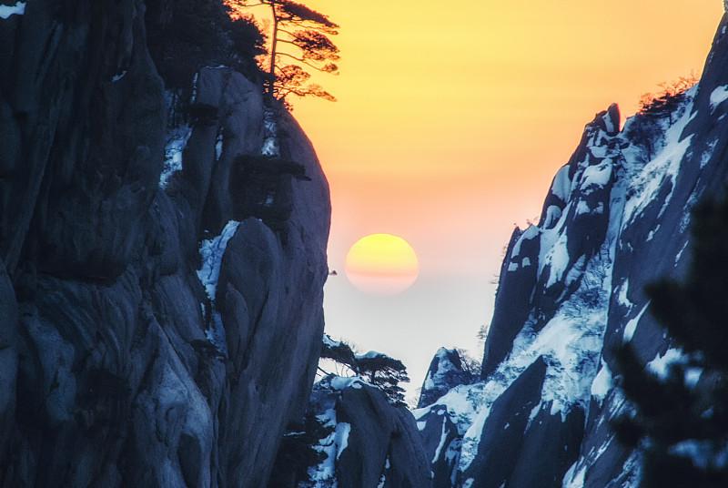 黄山,世界遗产,陕西省,顶部,环境保护,草,岩石,天空,高原,山脉