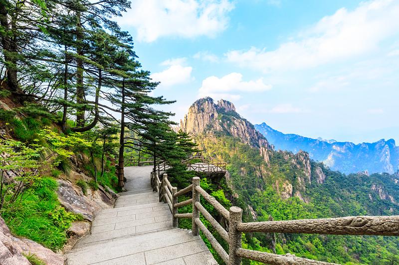 世界遗产,黄山山脉,地形,传统,国内著名景点,自然界的状态,云,著名景点,小路