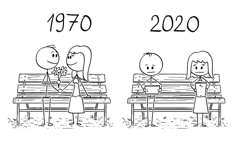 2020,比较,公园长椅,1970-1979年图片,卡通,全球通讯,爱的,享乐,坐