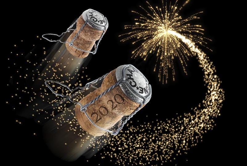 2020,软木塞,饮料,含酒精饮料,周年纪念,事件,葡萄酒,华贵,新年前夕,传统节日