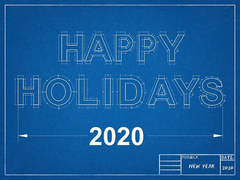 2020,蓝图,商务,贺卡,几何形状,比例,工程师,新年前夕,技术,工程