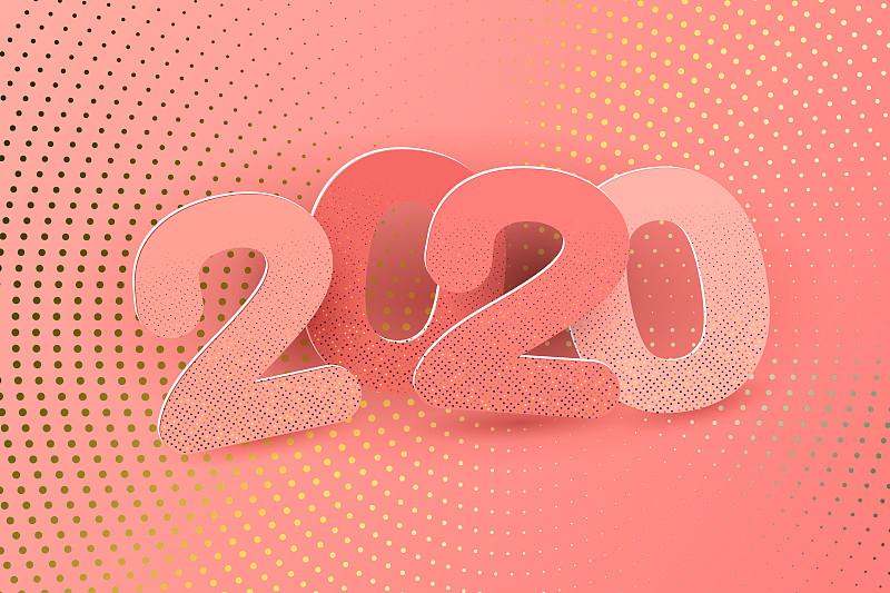 2020,新年前夕,请柬,事件,贺卡,几何形状,背景分离,蓝图,复古风格,模板