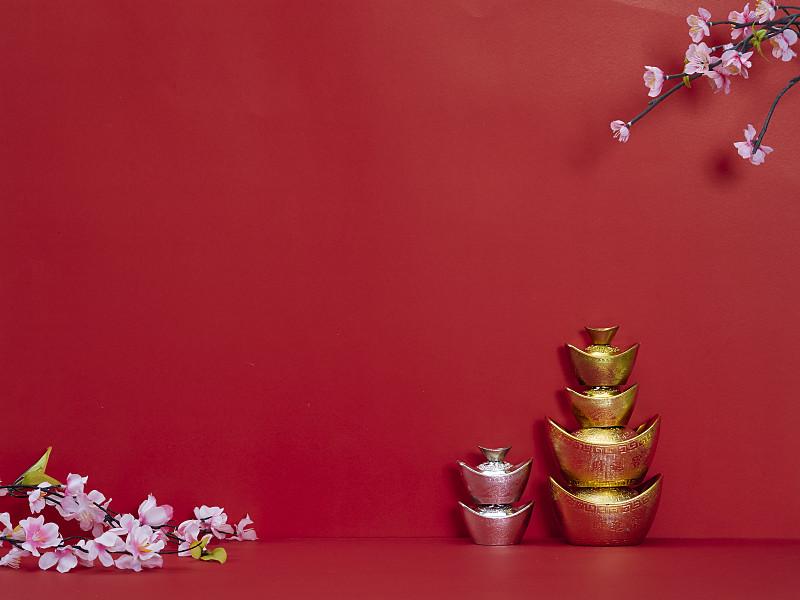 传统,春节,运气,留白,文字,红色背景,装饰,翻译