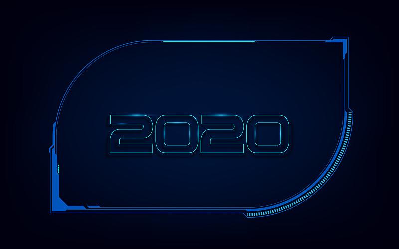 2020,模板,全息图,未来,式样,抽象,背景聚焦,技术员,建筑结构,数字化显示