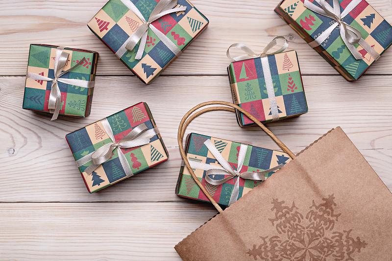 礼物,缎带,蝴蝶结,厚木板,请柬,2020,事件,背景分离,新年前夕,装饰物