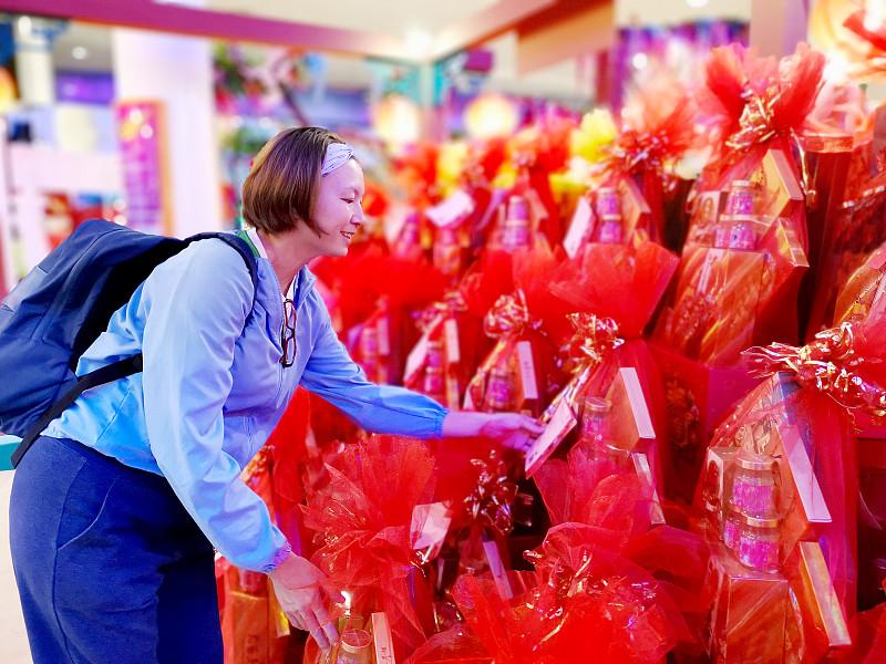春节,购物中心,现代,顾客,没有化妆,欢乐,马来西亚,仅一个女人,眼镜,幸福