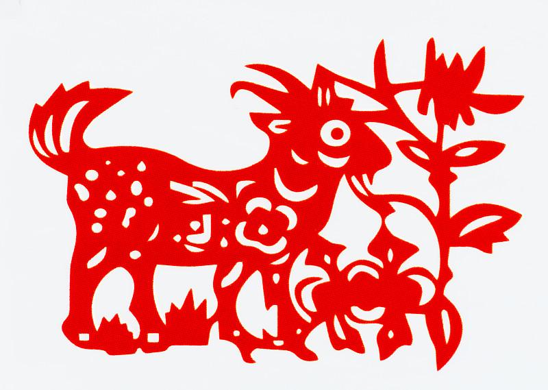 动物,传统,春节,绵羊,羊年,切断