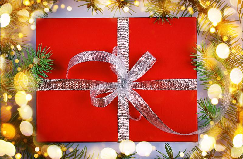 圣诞礼物,暗色,华贵,浪漫,云杉,凌乱,丝绸,幸福,生日,新年
