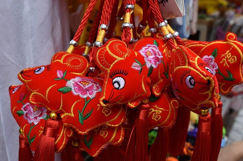 鼠年,春节,幸福,传统,2020,贺卡,新加坡,中国灯笼,新年前夕,十二生肖
