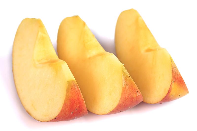 熟的,水果,红色,白色背景,切片食物,苹果,一半的,分离着色,横截面,部分