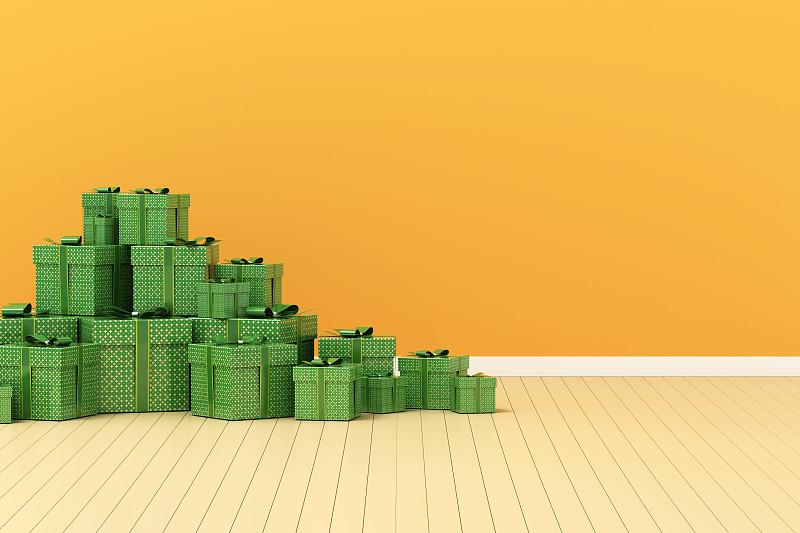 包装纸,绿色,室内地面,肉汁,2020,圣诞装饰物,空的,新年前夕,现代,背景