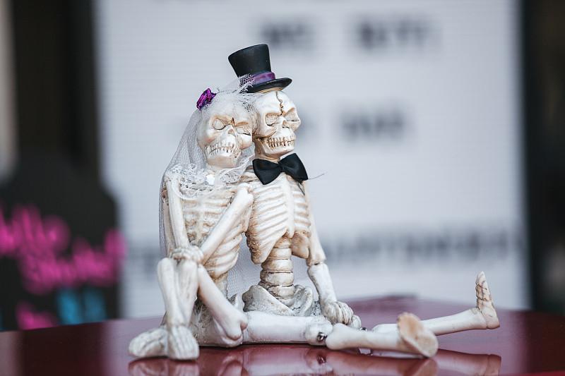 领结,人类骨架,面纱,伴侣,秘密,人,红色,图像,婚礼